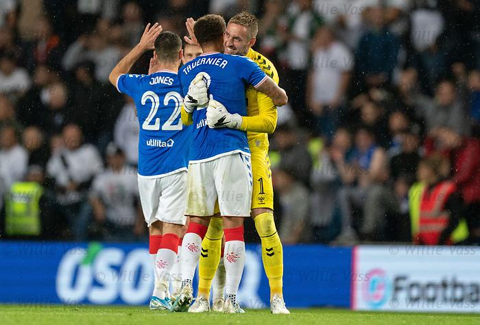 29.08.2019 Rangers v Legia Warsaw: Allan McGregor and James Tavernier