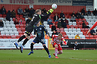 Paul Farman of Stevenage punches a cross clear during Stevenage vs Bury, Sky Bet EFL League 2 Football at the Lamex Stadium on 9th March 2019