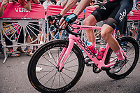 Maglia Rosa / overall leader Chris Froome's (GBR/SKY) customised pink bike<br /> <br /> stage 21: Roma - Roma (115km)<br /> 101th Giro d'Italia 2018