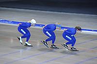 SCHAATSEN: HEERENVEEN: 19-06-2014, IJsstadion Thialf, Zomerijs training, Ireen Wust, Jorien Voorhuis, Yvonne Nauta, Team Continu, ©foto Martin de Jong