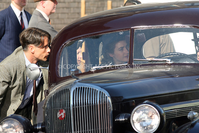 WWW.ACEPIXS.COM . . . . . ....EXCLUSIVE - ALL ROUNDER....April 30 2010, New York City....Actors Guy Pearce and Kate Winslet on the Peeskill set of the new TV show 'Mildred Pierce' on April 30 2010 in New York State.....Please byline: PHILIP VAUGHAN - ACE PICTURES.... *** ***..Ace Pictures, Inc:  ..Philip Vaughan (212) 243-8787 or (646) 679 0430..e-mail: info@acepixs.com..web: http://www.acepixs.com