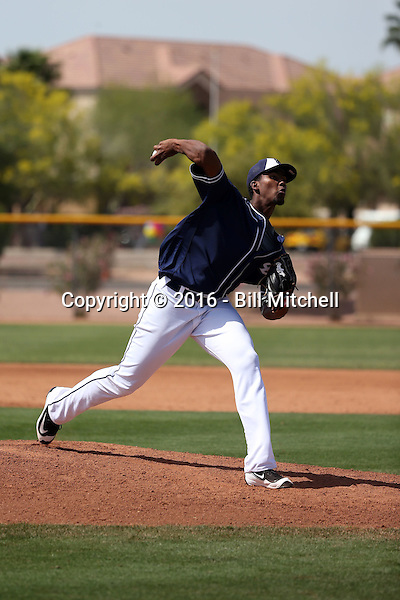 Starlin Cordero - San Diego Padres 2016 spring training (Bill Mitchell)