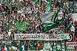 12.05.2018, OPEL Arena, Mainz, GER, 1.FBL, 1. FSV Mainz 05 vs SV Werder Bremen<br /> <br /> im Bild<br /> Werder Bremen Fans feiern den Abstieg von Hamburger SV / HSV in die 2. Liga mit Bannern, Spruchb&auml;ndern, Applaus, Jubel, Pyrotechnik, Gesang, <br /> &quot;Verschollen in Liga 2. !&quot;, <br /> <br /> Foto &copy; nordphoto / Ewert