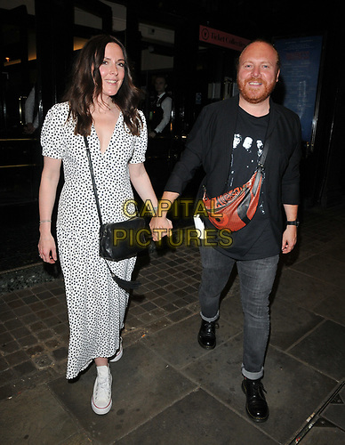 """Leigh Francis and Jill Carter at the """"Waitress"""" cast change media night, Adelphi Theatre, The Strand, London, England, UK, on Tuesday 02nd July 2019.<br /> CAP/CAN<br /> ©CAN/Capital Pictures"""