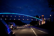 The newley completed pedestrian bridge over 147 in Durham, N.C., Sunday, Sept. 12, 2010.