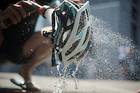 helmet cleaning<br /> <br /> Tour de France 2013<br /> restday 2