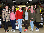 Josephine Boylan, Laura Reynolds, Annette O'Boyce, Natalia Kopczak, Jessica O'Donoghue and Jasmin Kerr who queued over night to be first to get One Direction tickets when they went on sale at CD World at the Drogheda Town Centre.  Photo:Colin Bell/pressphotos.ie