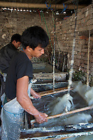 Producing traditional Hand Made paper Kathmandu, Nepal