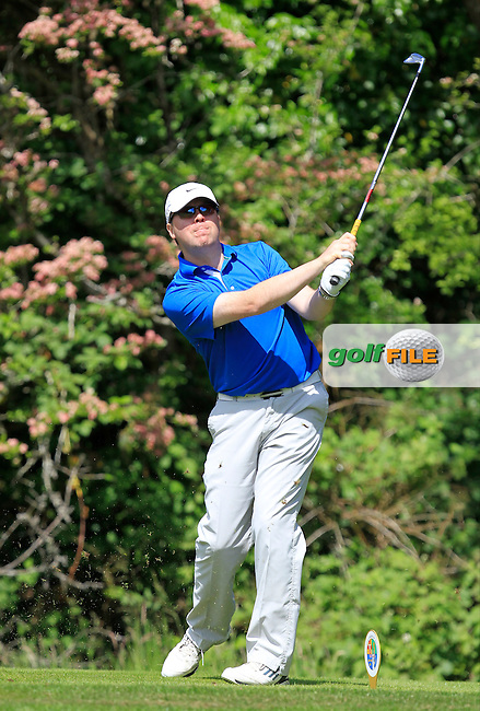 George Armstrong (Carrickfergus) on the 2nd tee during Round 1 of the Irish Mid-Amateur Open Championship at New Forest on Saturday 20th June 2015.<br /> Picture:  Thos Caffrey / www.golffile.ie