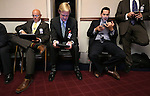 Lobbyists work the final minutes of the legislative session at the Legislative Building in Carson City, Nev., on Monday, June 1, 2015. <br /> Photo by Cathleen Allison