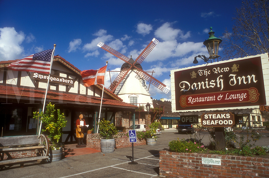 Solvang, California, CA, The New Danish Inn Restaurant in the town of Solvang, known for its Danish Culture and architecture.