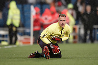 1st March 2020; Estadio Santiago Bernabeu, Madrid, Spain; La Liga Football, Real Madrid versus FC Barcelona; Marc-Andre ter Stegen (FC Barcelona)  Pre-match warm-up