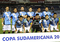 BARRANQUILLA  -COLOMBIA, 14-09-2016. Formación   del Blooming de Boliva   durante encuentro  por la fase 2 llave 6 de la Copa Sudamericana disputado en el estadio Metroplitano Roberto Meléndez ./Team of Blooming  of Bolivia   during match for the date 2 of Sudamericana Cup   played at Metroplitano Roberto Melendez stadium . Photo:VizzorImage / Alfonso Cervantes  / Contribuidor