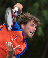 Moscow, Russia, 13 th July, 2016, Tennis,  Davis Cup Russia-Netherlands, Training Dutch team, Robin Haase (NED) <br /> Photo: Henk Koster/tennisimages.com