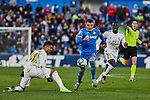 Mauro Arambarri of Getafe FC and Carlos Henrique Casemiro of Real Madrid during La Liga match between Getafe CF and Real Madrid at Coliseum Alfonso Perez in Getafe, Spain. January 04, 2020. (ALTERPHOTOS/A. Perez Meca)