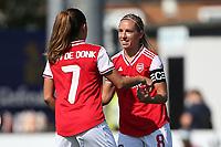 Joy for Jordan Nobbs, scorer of the third Arsenal goal during Arsenal Women vs Tottenham Hotspur Women, Friendly Match Football at Meadow Park on 25th August 2019