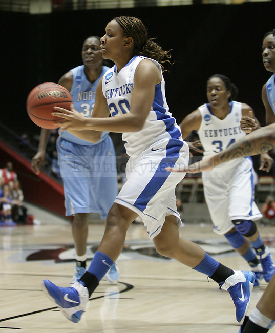 UK Hoops' freshman guard Maegan Conwright passes the ball in the first half of UK Hoops' second round NCAA game against UNC in The Pit in Albuquerque, New Mexico, 3/21/11. Photo by Brandon Goodwin | Staff.
