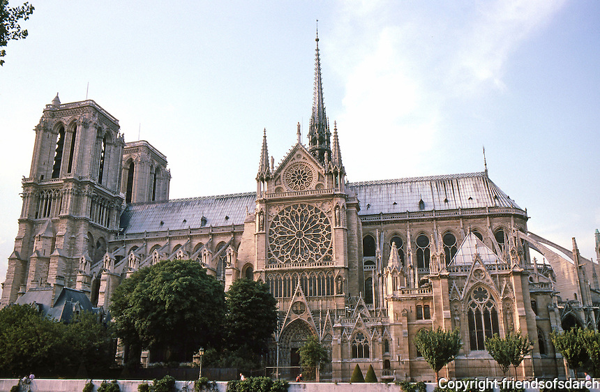 Paris: Notre Dame--South elevation. Length--130 ft. Photo '87.