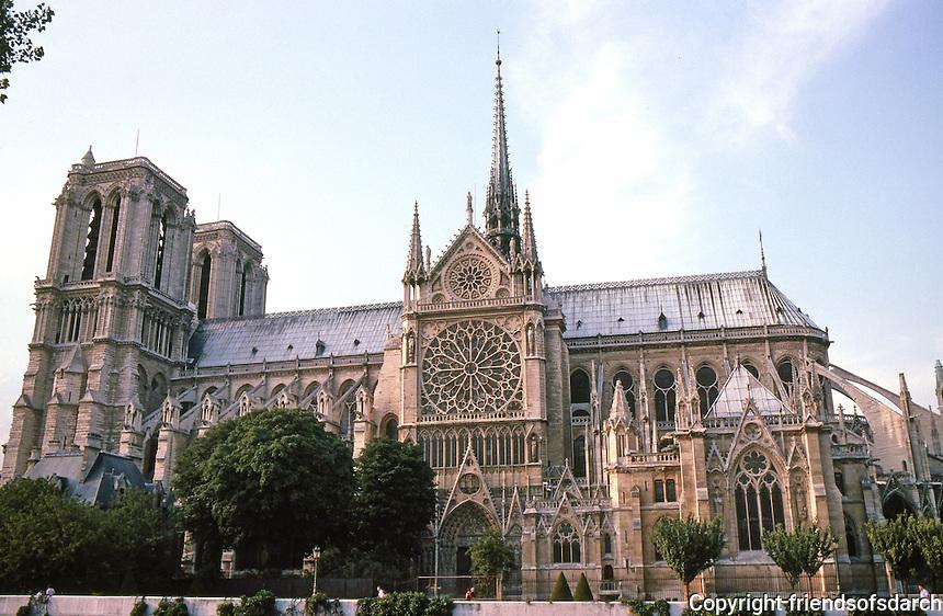 Paris: Notre Dame--South elevation. Length--130 ft. Photo '87.