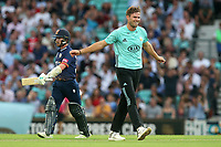 Mathew Pillans of Surrey celebrates taking the wicket of Adam Wheater during Surrey vs Essex Eagles, Vitality Blast T20 Cricket at the Kia Oval on 12th July 2018
