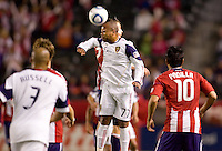 Real Salt Lake defender Andy Williams (77) clears a ball. Real Salt Lake defeated CD Chivas USA 2-1at Home Depot Center stadium in Carson, California on Saturday May 22, 2010.  .