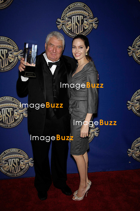 Dean Semler and Angelina Jolie during the 27th Annual American Society of Cinematographers Awards, held at the Ray Dolby Ballroom, at the Hollywood and Highland Complex, on February 10, 2013, in Los Angeles..