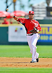 12 March 2012: Washington Nationals infielder Ian Desmond in action during a Spring Training game against the St. Louis Cardinals at Space Coast Stadium in Viera, Florida. The Nationals defeated the Cardinals 8-4 in Grapefruit League play. Mandatory Credit: Ed Wolfstein Photo