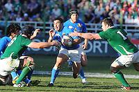 Pablo Canavosio (Italia) Leamy e Healy (Irlanda)<br /> Italia vs Irlanda 11-13<br /> Six Nations Rugby<br /> Stadio Flaminio, Roma, 05/02/2011<br /> Photo Antonietta Baldassarre Insidefoto