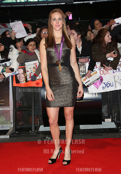 """Helen Glover arriving for the """"The Twilight Saga: Breaking Dawn Part 2"""" premiere at the Odeon Leicester Square, London. 14/11/2012 Picture by: Henry Harris / Featureflash"""