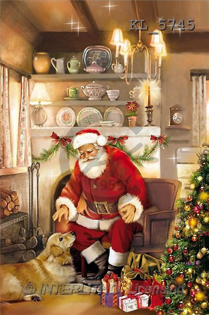 Interlitho, Patricia, CHRISTMAS SANTA, SNOWMAN, paintings, santa, golden retriever, dogs(KL5745,#X#) Weihnachtsmänner, Schneemänner, Weihnachen, Papá Noel, muñecos de nieve, Navidad, illustrations, pinturas