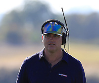 John E Morgan Sky Sports on the 14th hole during Thursday's Round 1 of the 2016 Portugal Masters held at the Oceanico Victoria Golf Course, Vilamoura, Algarve, Portugal. 19th October 2016.<br /> Picture: Eoin Clarke   Golffile<br /> <br /> <br /> All photos usage must carry mandatory copyright credit (© Golffile   Eoin Clarke)