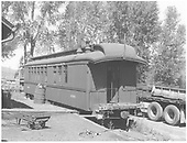 RGS outfit coach #0260 parked at Ridgway.<br /> RGS  Ridgway, CO  ca 1952