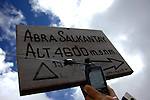 salkantay pass, 15260 ft- officially my highest so far