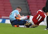 16/04/2018 Arsenal v Blackpool FAYC Semi 2L<br /> <br /> Jack Newton tackles Xavier Amaechi