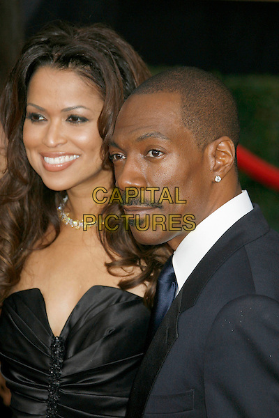TRACEY EDMONDS & EDDIE MURPHY.Red Carpet Arrivals - 13th Annual Screen Actors Guild (SAG) Awards, held at the Shrine Auditorium, Los Angeles, California, USA, 28 January 2007..half length couple black dress strapless tracy.CAP/ADM/RE.©Russ Elliot/AdMedia/Capital Pictures.