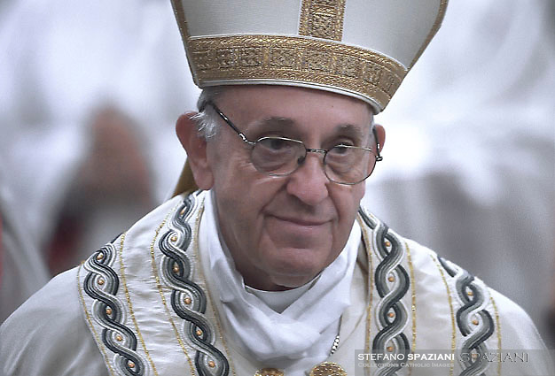Pope Francis Celebration of the second vespers of Saint Paul basilica in Rome. January 25, 2018