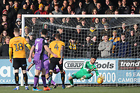 Dimitar Mitov of Cambridge United makes a save during Cambridge United vs Port Vale, Sky Bet EFL League 2 Football at the Cambs Glass Stadium on 9th February 2019