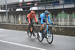 Carlos Verona (COL) Movistar and Alessandro De Marchi (ITA) CCC Team from the breakaway during another wet Stage 4 of the Tour of the Basque Country 2019 running 163.6km from Vitoria-Gasteiz to Arrigorriaga, Spain. 11th April 2019.<br /> Picture: Colin Flockton | Cyclefile<br /> <br /> <br /> All photos usage must carry mandatory copyright credit (&copy; Cyclefile | Colin Flockton)