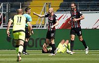 celebrate the goal, Torjubel zum 1:0 Sebastian Rode (Eintracht Frankfurt) mit Bas Dost (Eintracht Frankfurt)<br /> - 27.06.2020: Fussball Bundesliga, Saison 19/20, Spieltag 34, Eintracht Frankfurt vs. SC Paderborn 07, emonline, emspor, Namen v.l.n.r. <br /> <br /> Foto: Marc Schueler/Sportpics.de/Pool <br /> Nur für journalistische Zwecke. Only for editorial use. (DFL/DFB REGULATIONS PROHIBIT ANY USE OF PHOTOGRAPHS as IMAGE SEQUENCES and/or QUASI-VIDEO)