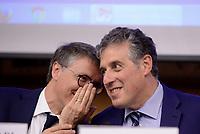 Roma, 31 Maggio 2017<br /> Raffaele Cantone e  Antonino Di Matteo.<br /> Convegno del Movimento 5 Stelle sulla Giustizia: Questioni e visioni di Giustizia- Prospettive di riforma