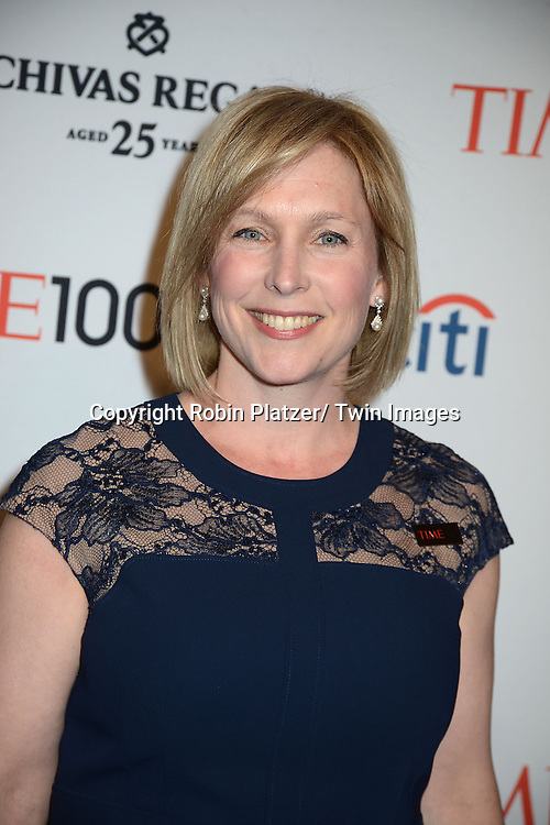 Senator Kirsten Gillibrand attends the TIME 100 Gala celebrating the 100 Most Influential People in the World on April 29, 2014 at Frederick P Rose Hall in New York City, NY, USA.