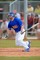 South Dakota State Jackrabbits second baseman Daniel Marra #3 during a game against the Ohio State Buckeyes at North Charlotte Regional Park on February 23, 2013 in Port Charlotte, Florida.  Ohio State defeated South Dakota State 5-2.  (Mike Janes/Four Seam Images)