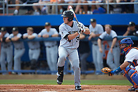 Ben Breazeale (39) of the Wake Forest Demon Deacons at bat against the Florida Gators in Game One of the Gainesville Super Regional of the 2017 College World Series at Alfred McKethan Stadium at Perry Field on June 10, 2017 in Gainesville, Florida. The Gators defeated the Demon Deacons 2-1 in 11 innings. (Brian Westerholt/Four Seam Images)