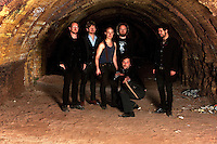 Graveyard Train promotional photo shoot in an abandoned brickworks, Melbourne, 2010