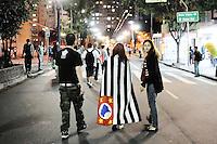 SAO PAULO, SP,22 de junho 2013-Protesto contra a PEC 37 em frente ao Ministerio Puplico do Estado de Sao Paulo ADRIANO LIMA / BRAZIL PHOTO PRESS).