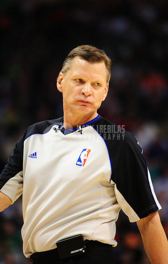 Jan. 28, 2011; Phoenix, AZ, USA; NBA referee Steve Javie during the game between the Boston Celtics against the Phoenix Suns at the US Airways Center. Mandatory Credit: Mark J. Rebilas-
