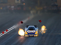 Jul. 18, 2014; Morrison, CO, USA; NHRA funny car driver Ron Capps during qualifying for the Mile High Nationals at Bandimere Speedway. Mandatory Credit: Mark J. Rebilas-
