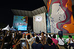 General view,<br /> AUGUST 23, 2018 - Sport Climbing : <br /> Women's Speed Final <br /> at Jakabaring Sport Center Sport Climbing <br /> during the 2018 Jakarta Palembang Asian Games <br /> in Palembang, Indonesia. <br /> (Photo by Yohei Osada/AFLO SPORT)