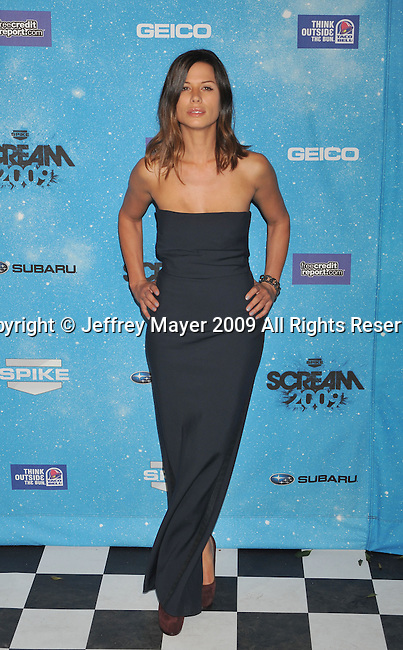 LOS ANGELES, CA. - October 17: Rhona Mitra arrives at Spike TV's Scream 2009 held at the Greek Theatre on October 17, 2009 in Los Angeles, California.