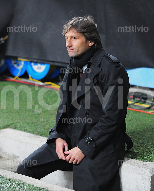 FUSSBALL  Champions League  Achtelfinal Hinspiel  SAISON 2009/2010   16.02.2010 AC Mailand - Manchester United      AC Trainer Leonardo